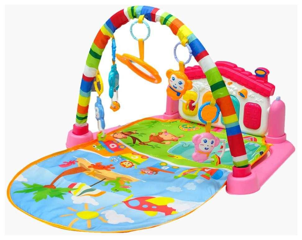 Купить Развивающий коврик Everflo Пианино Розовый, Развивающие коврики и центры