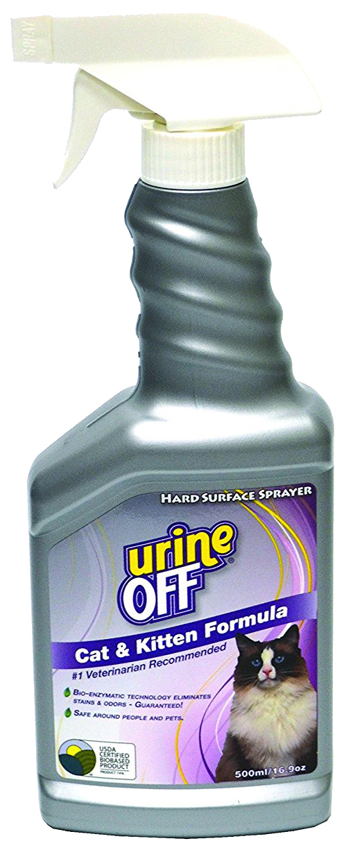 Нейтрализатор пятен и запаха Urine Off Odor and Stain Remover Cat & Kitten 500мл