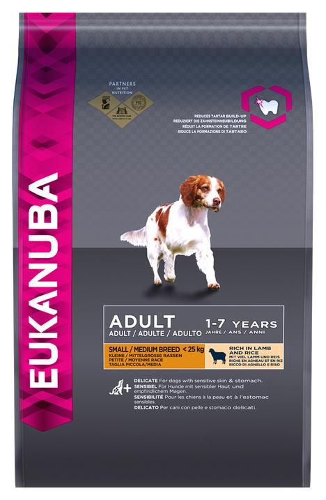 Сухой корм для собак Eukanuba Small/Medium Breed, ягненок,