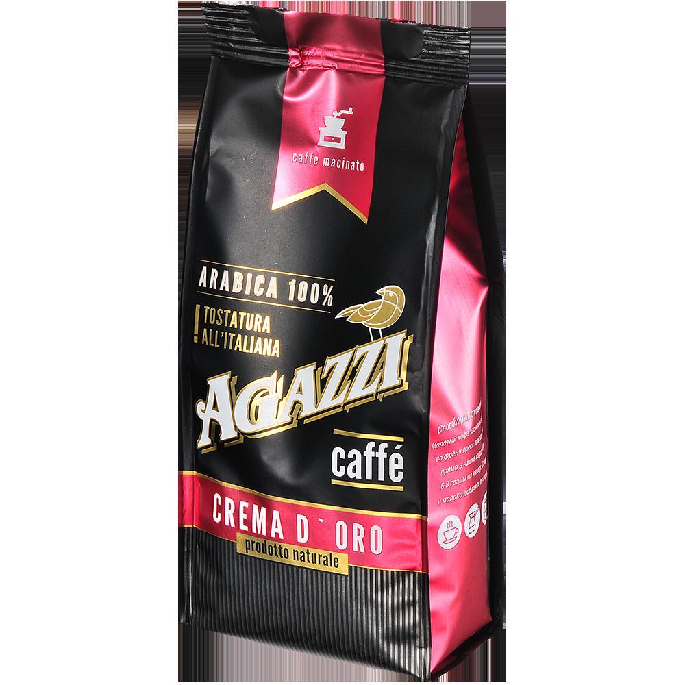 Кофе молотый Agazzi crema d`oro для турки 200 г