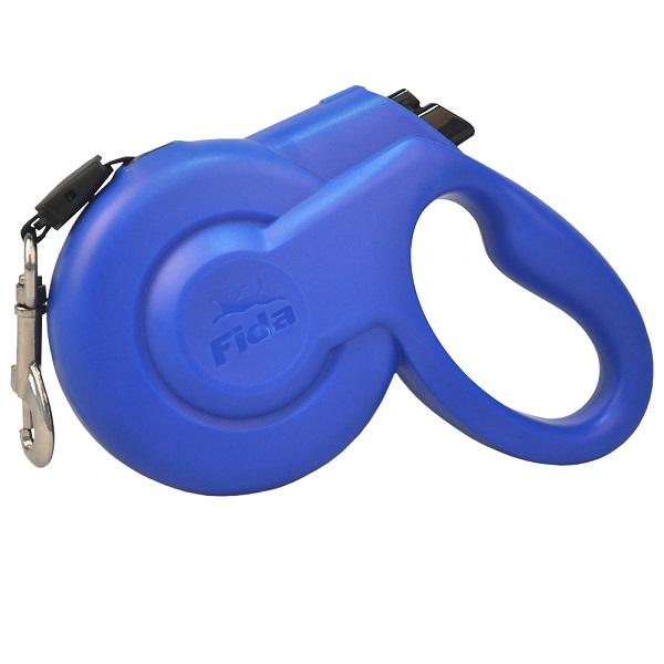 Поводок-рулетка Fida Styleash 5м  для собак крупных пород до 50 кг голубая