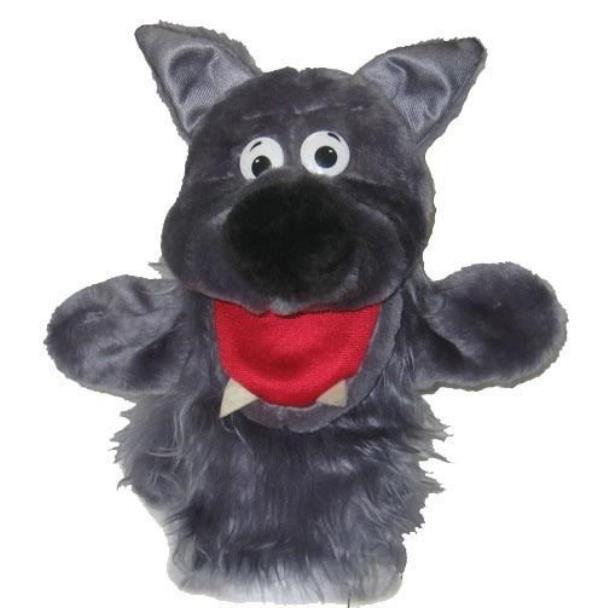 Кукла перчатка Тайга Серый Волк с открывающимся