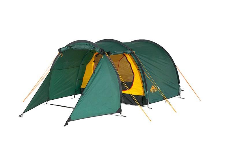 Туристическая палатка Alexika Tunnel 3 трехместная зеленая