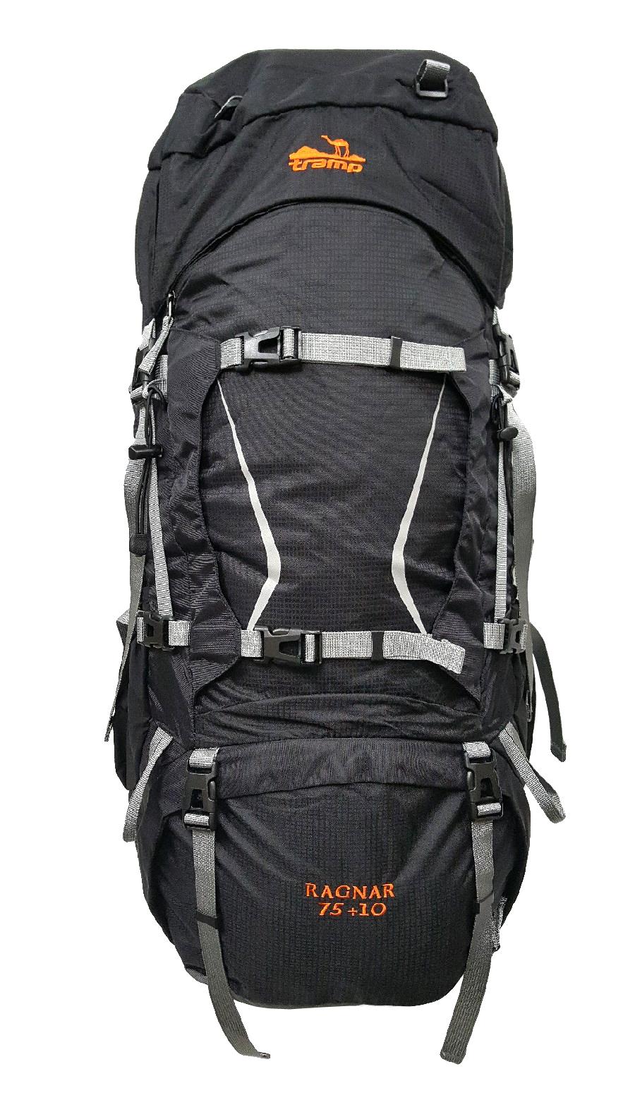 Туристический рюкзак Tramp Ragnar, черный, 75+10 л фото
