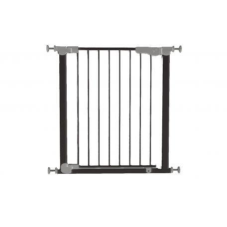 Safe&care ворота auto с дозакрывателем дверцы на распорках метал черный 73-80.5см