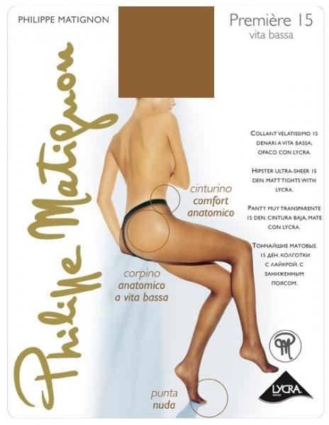 Колготки Philippe Matignon PREMIERE 15 vita bassa / The (Чай) / 4 (L) фото