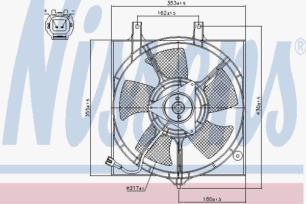 Вентилятор охлаждения двигателя NISSENS 85281