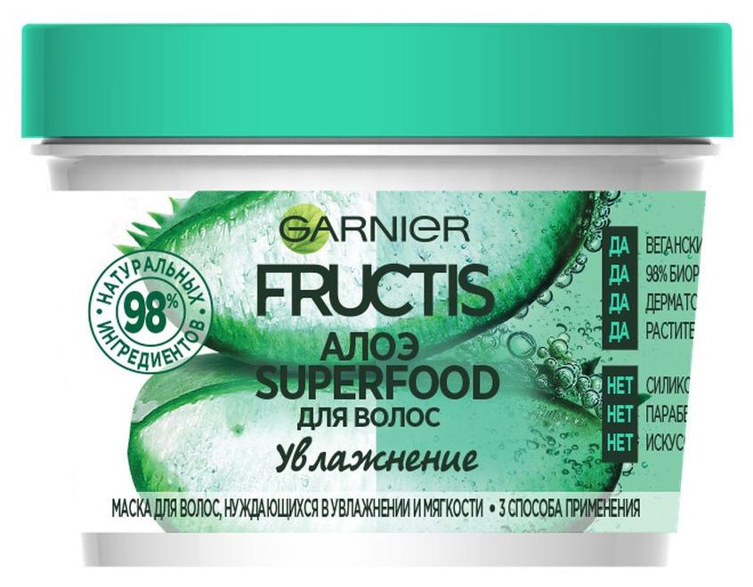Маска для волос Garnier Fructis Superfood Алоэ Увлажнение 390 мл