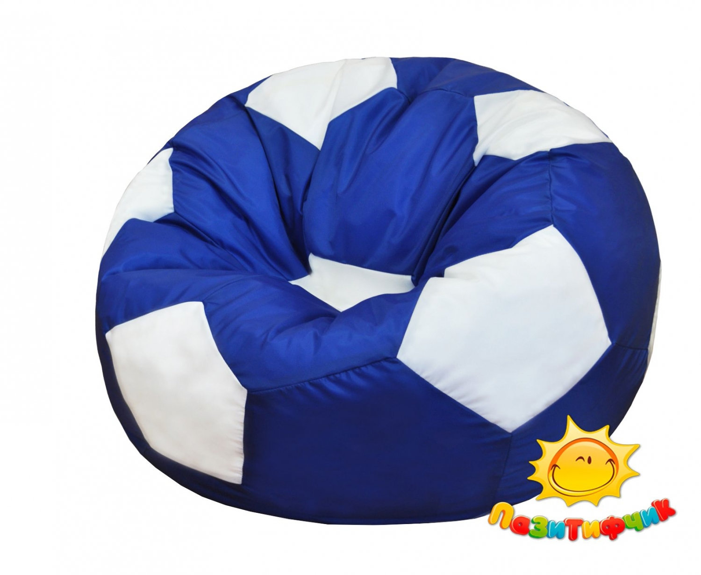 Кресло-мяч Pazitif Мяч Пазитифчик, размер XL, оксфорд, сине-белый фото