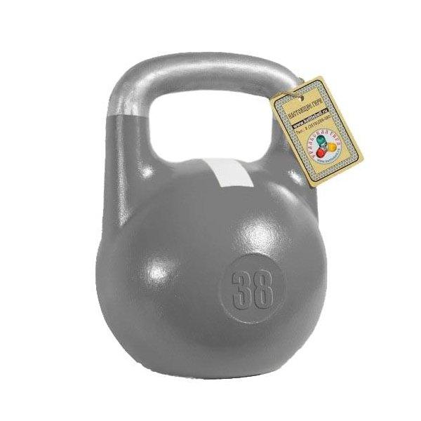Гиря Titan чемпионская 38 кг (Серая с белой полосой)