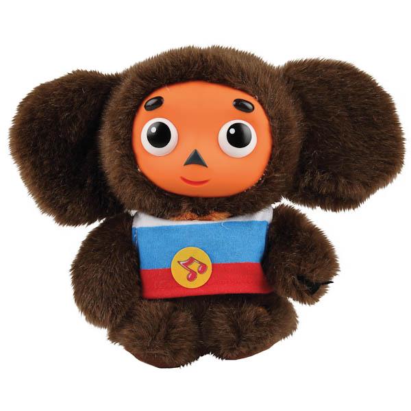 Мягкая игрушка Мульти-Пульти Чебурашка с пластмассовой мордочкой озвученная 17 см