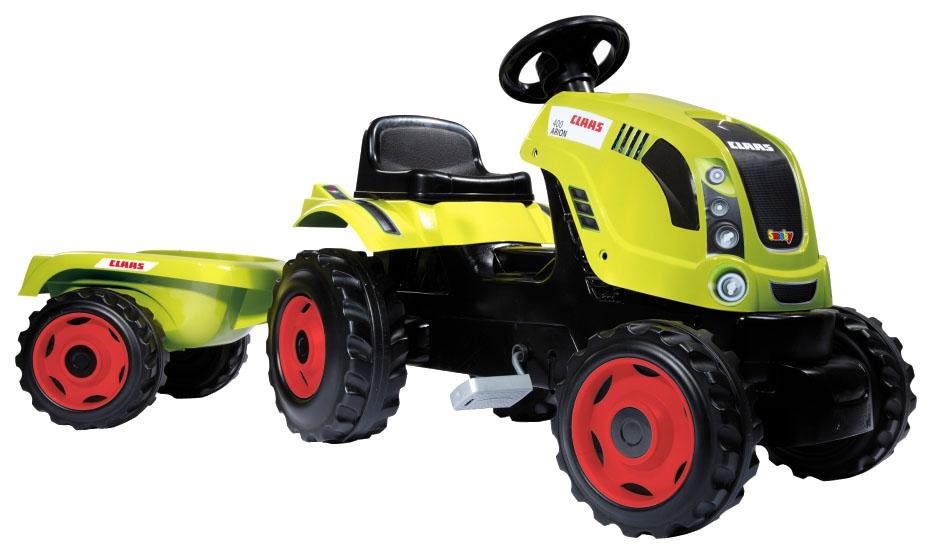 Купить Большая, Каталка детская Smoby трактор педальный CLAAS Farmer XL с прицепом, Каталки детские