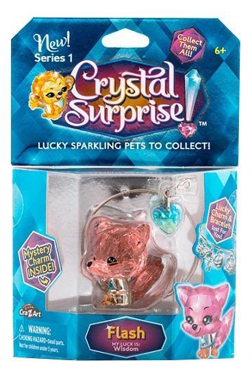 Купить Crystal surprise 45708 кристал сюрприз фигурка лисенок + браслет и подвески, Фигурки животных