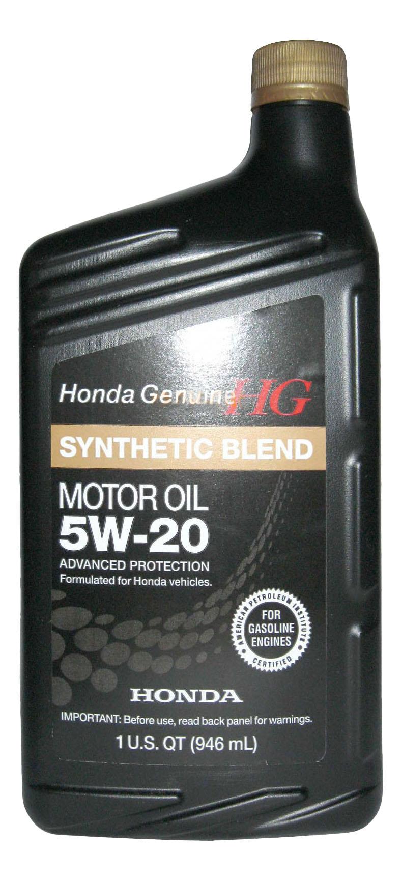 Моторное масло Honda Synthetic Blend 5W-20 0,946л
