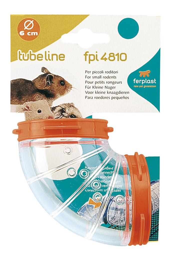 Тоннель для грызунов Ferplast пластик, 6х6 см, цвет