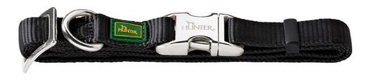 Ошейник Hunter Smart ALU-Strong с Металлической застежкой L, черный, обхват шеи 45-65 см