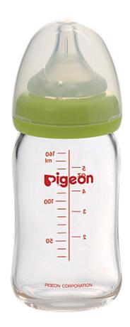 Купить Бутылочка для кормления Перистальтик Плюс с широким горлом 160 мл стекло, Pigeon, Бутылочки для кормления