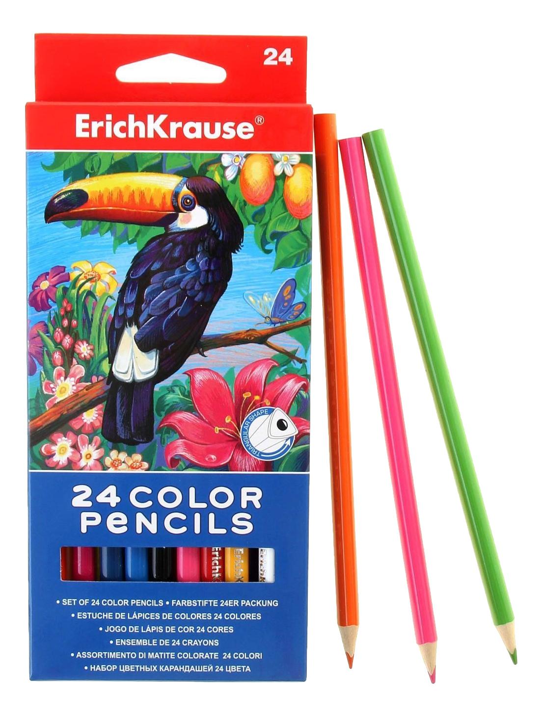 Купить Карандаши цветные Erich Krause 24 сolor pencils, ErichKrause