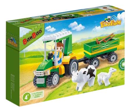 Конструктор пластиковый BanBao Фермерский трактор