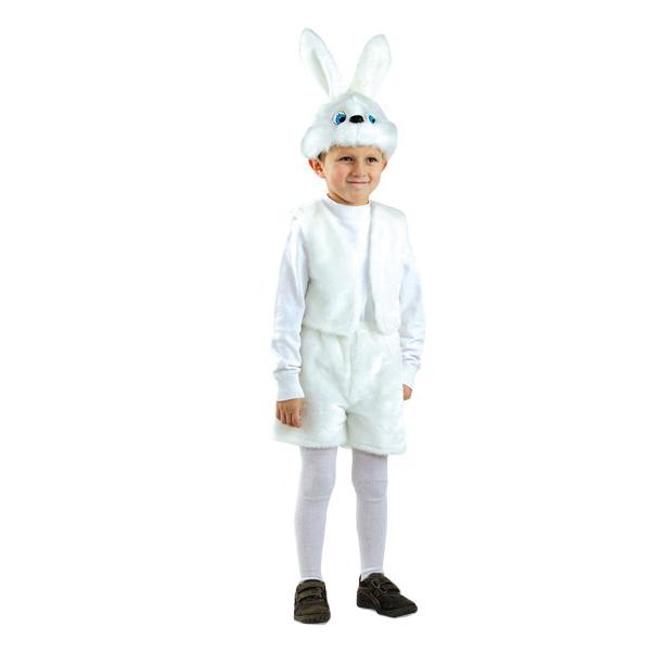 Карнавальный костюм Батик Заяц, цв. белый р.110