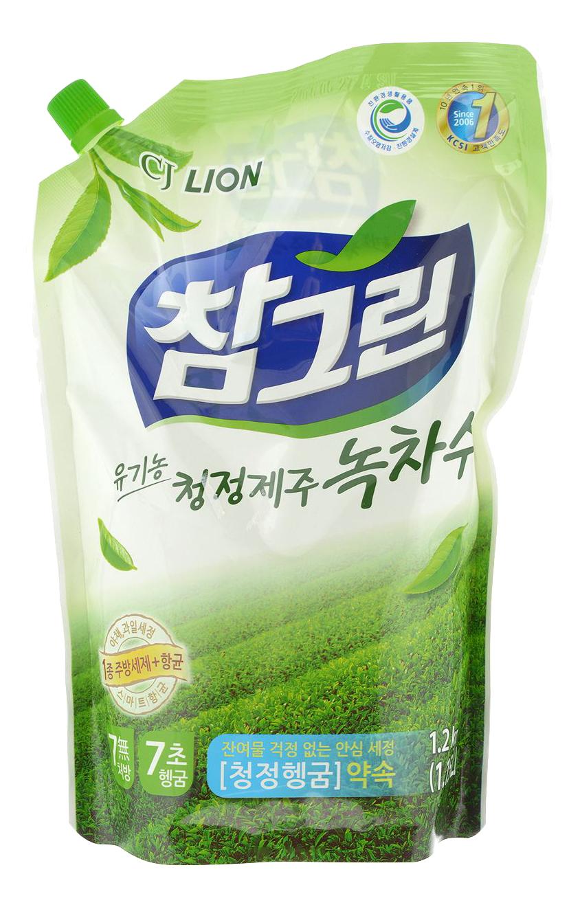 Средство для мытья посуды овощей и фруктов CJ Lion сhamgreen зеленый чай 1150 мл