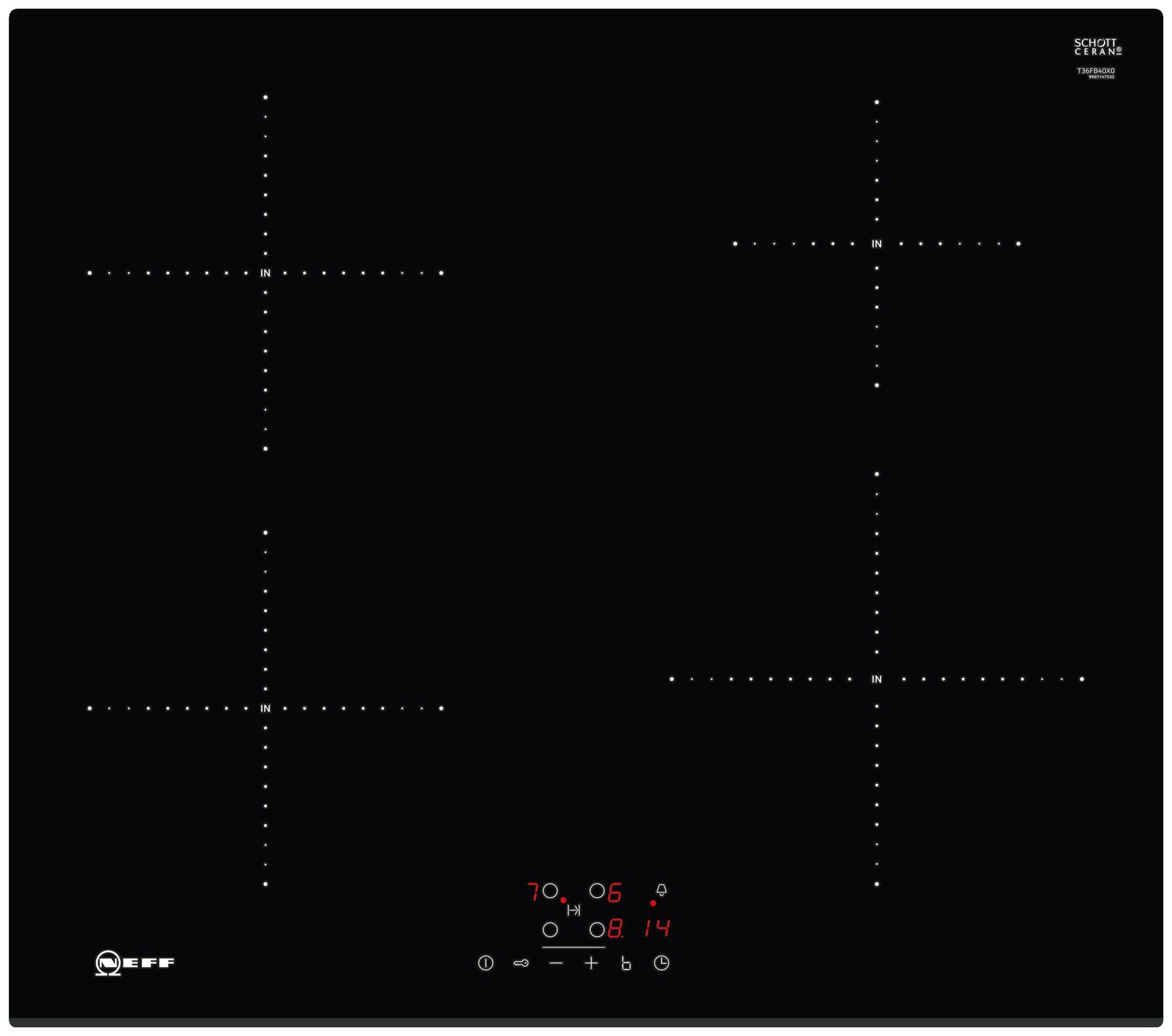 Встраиваемая варочная панель индукционная Neff T36FB40X0 Black