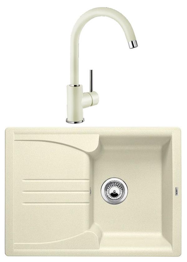 Комплект Blanco Мойка для кухни ENOS 40 S 514230 жасмин + смеситель DARAS 517725 жасмин