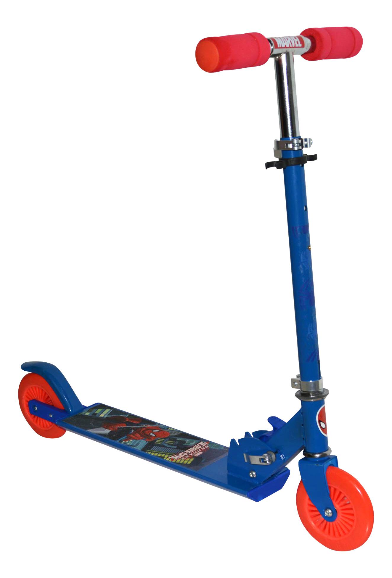Купить Самокат 1 Toy Marvel Spider-Man Т58410 красно-синий, Самокаты детские двухколесные