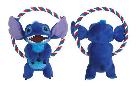 Мягкая игрушка для собак Triol Stitch с круглым канатом, синяя, 20 см