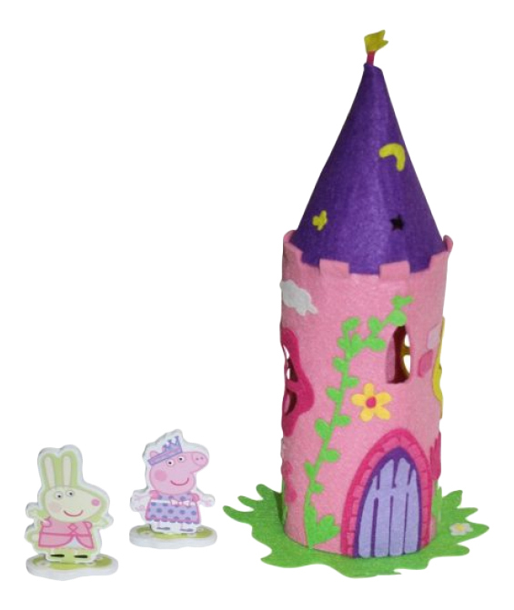 Поделка из фетра Peppa Pig Шьем из фетра Волшебный замок Пеппы фото