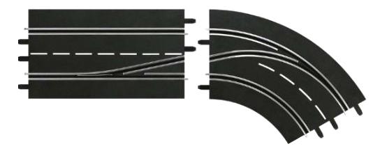 Автотрек Carrera Поворот справа со сменой полосы,