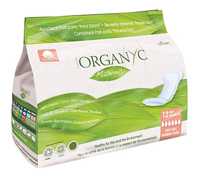 Прокладки гигиенические Organyc Для первых дней послеродовые