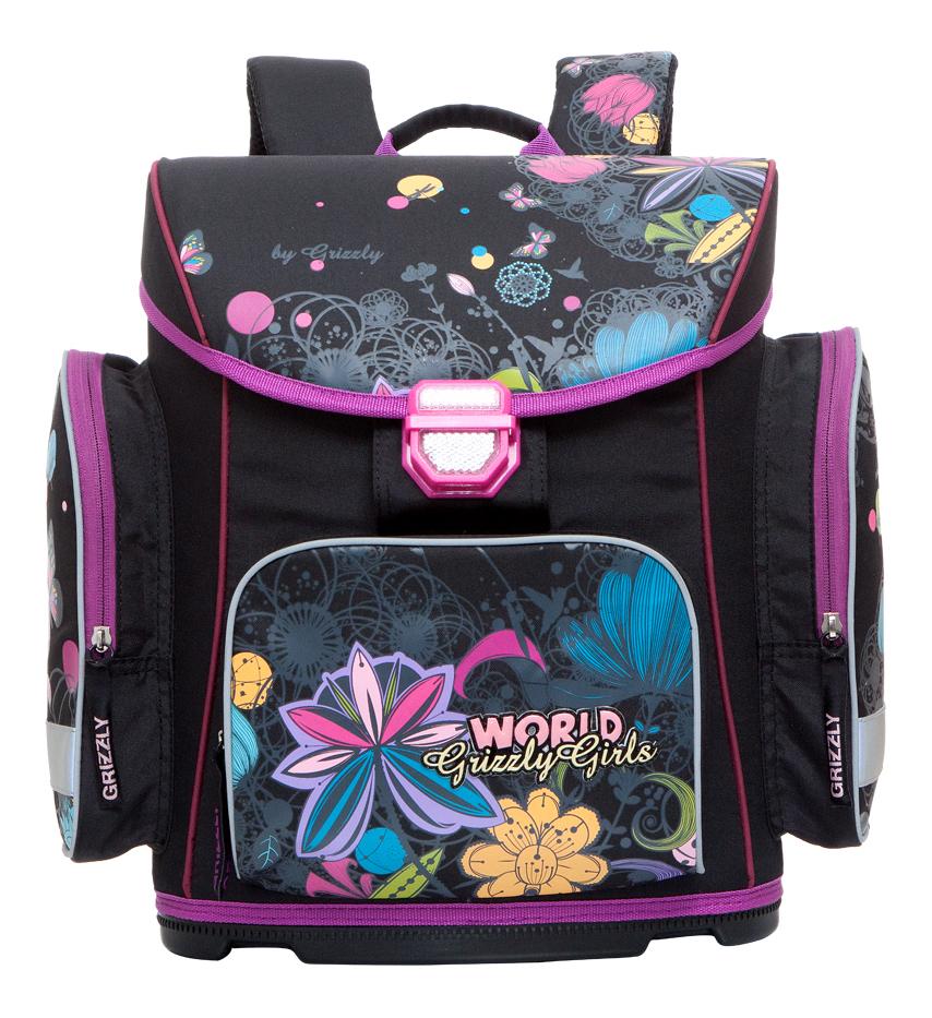 Рюкзак детский Grizzly RA-676-3 Рюкзак черный ранец RA-676-3/2 черный
