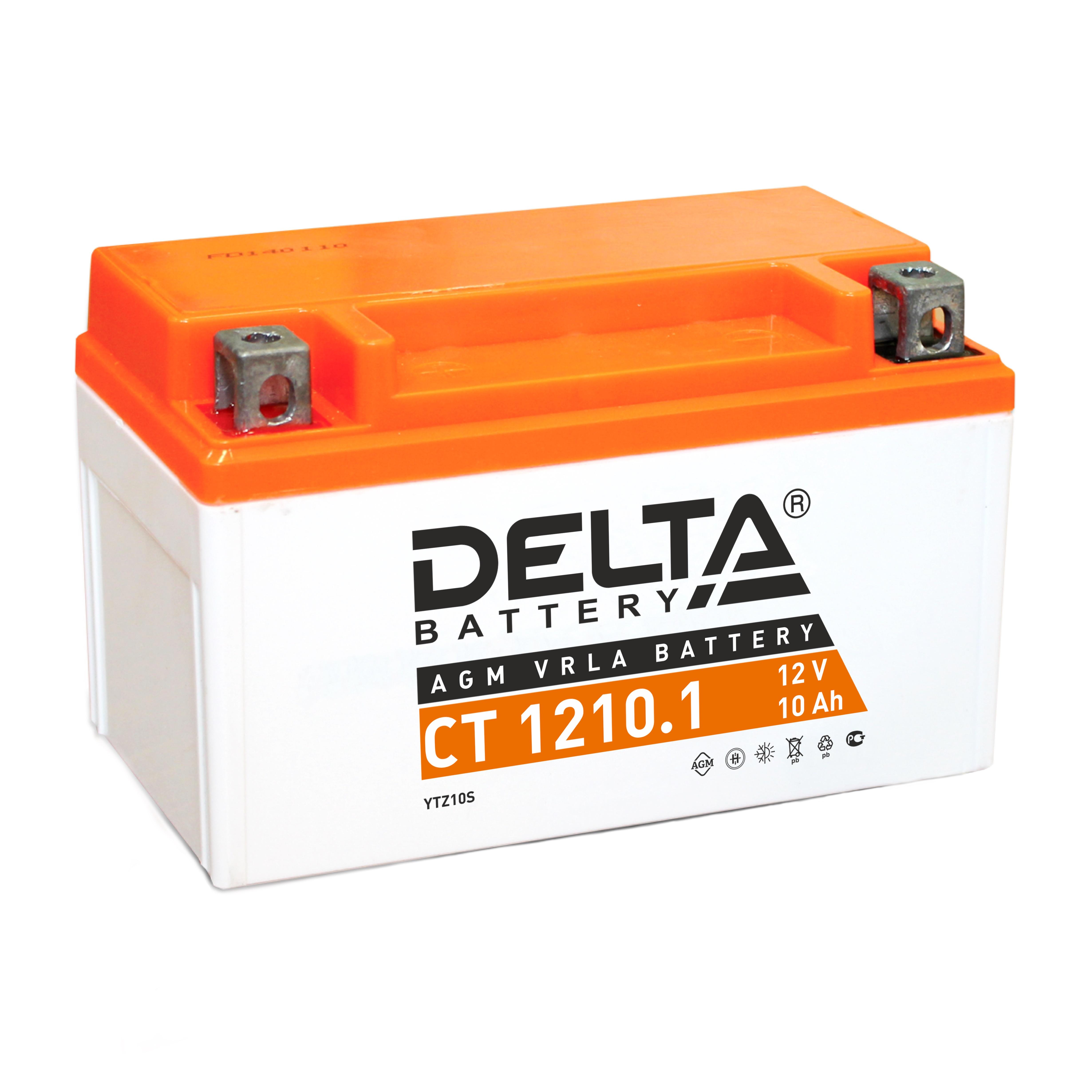Аккумулятор автомобильный автомобильный Delta CT 1210.1 10 Ач фото
