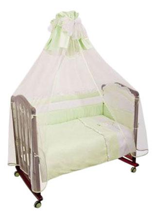 Купить Сонный гномик Постельный сет 7 предметов Сонный гномик Пушистик (салатовый), Комплект детского постельного белья Сонный гномик Пушистик салатовый,