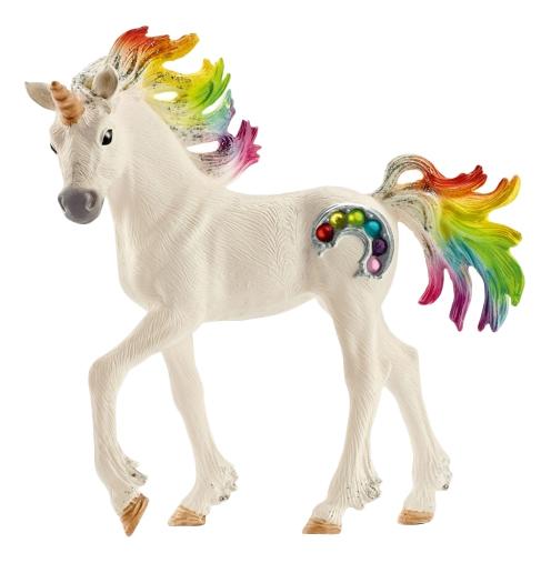 Купить Радужный единорог Жеребенок, Фигурка лошадки Schleich Радужный единорог жеребенок 70525,