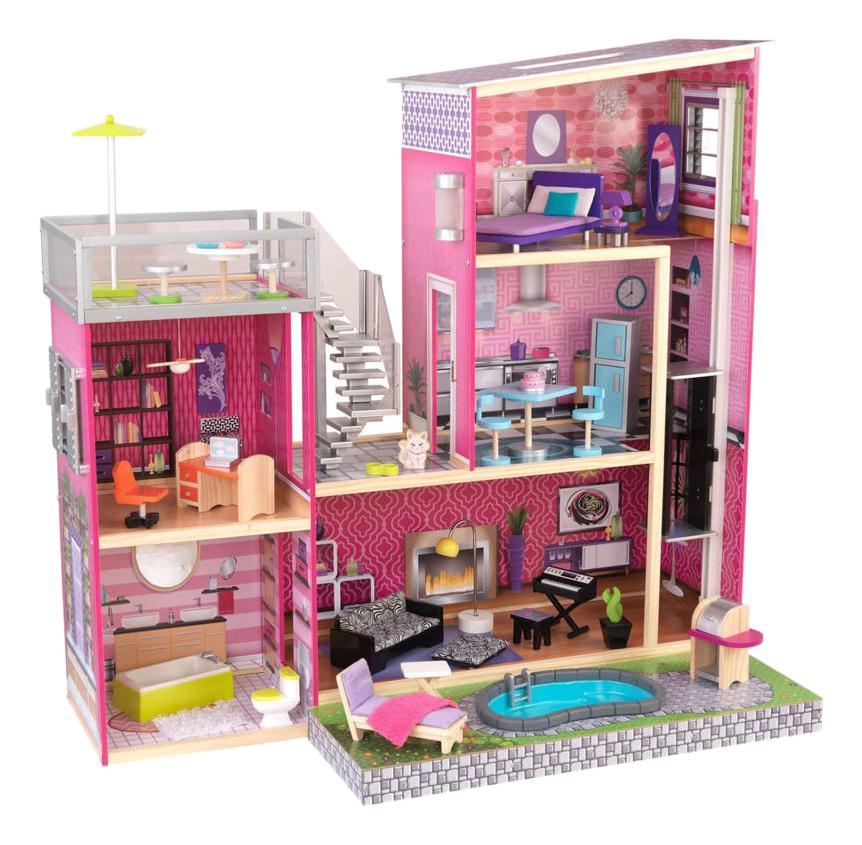 Купить Домик для барби, Домик для Barbie Kidkraft глянец 65833_KE, Кукольные домики