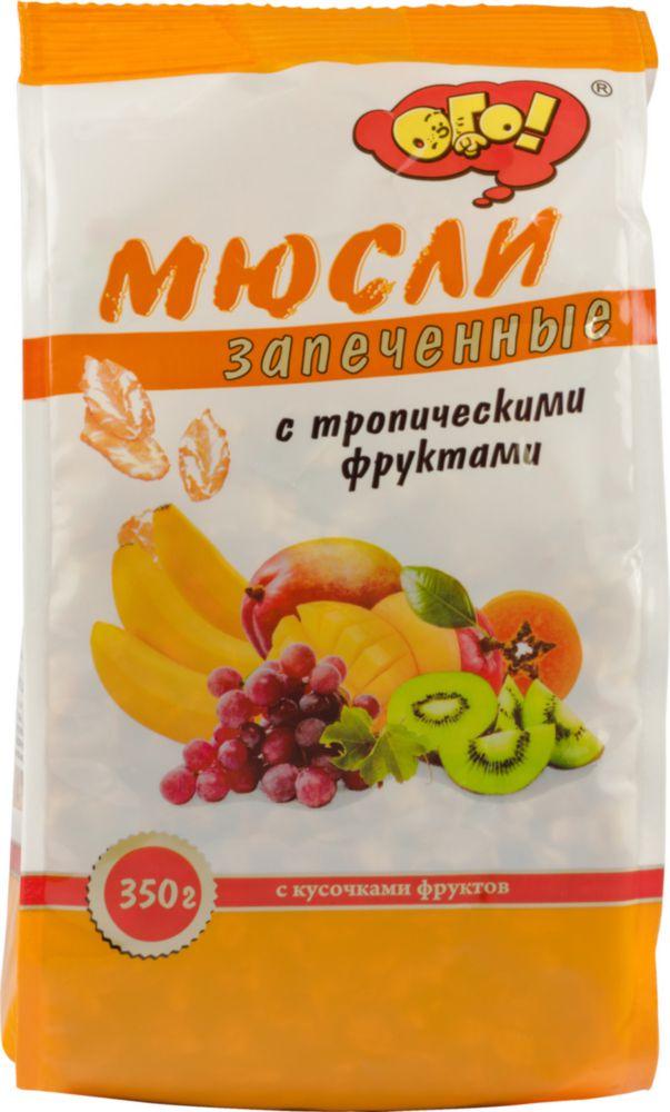 Мюсли запеченные Ого! с тропическими фруктами 350 г