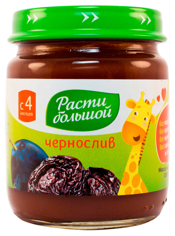 Пюре фруктовое Расти Большой Чернослив с 4 мес 100 гр