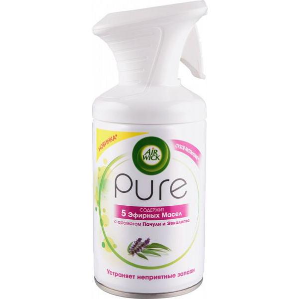Освежитель воздуха AIR WICK PURE 5 эфирных масел с ароматом пачули и эвкалипта 250 мл