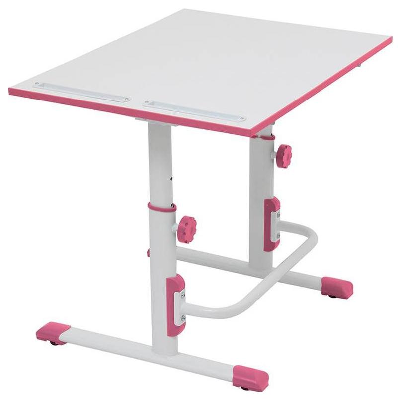 Купить М1 Белый/Розовый, Детская растущая парта-трансформер Polini Kids Simple М1 75х55 см, Белый/Розовый,
