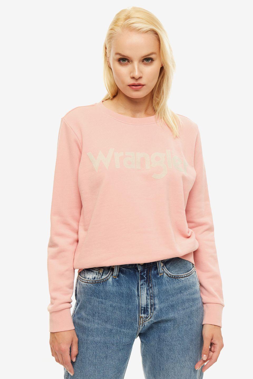 Свитшот женский Wrangler розовый
