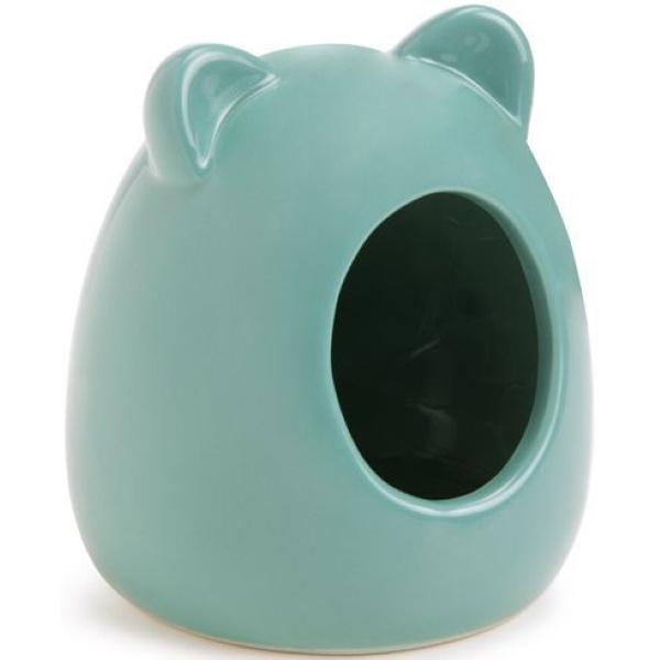 Домик для мелких грызунов Beeztees, керамический, зеленый