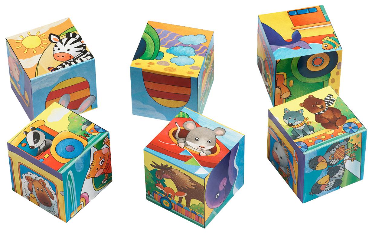 Купить Айрис-пресс Умные кубики. Фигурные 6 шт. Мы едем, едем, едем. IQ Кубики, Развивающие кубики