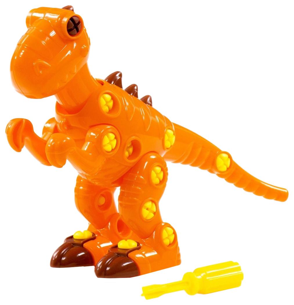 Купить Конструктор-динозавр «Тираннозавр», 40 деталей Полесье, Конструкторы пластмассовые