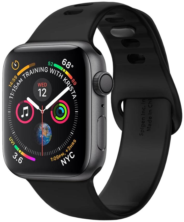Ремешок Spigen Air Fit для Apple Watch Series 2/3/4/5 42/44 mm Black