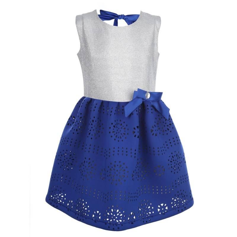 Купить 898, Платье Браво UNONA D'ART, цв. синий, 128 р-р, Платья для девочек