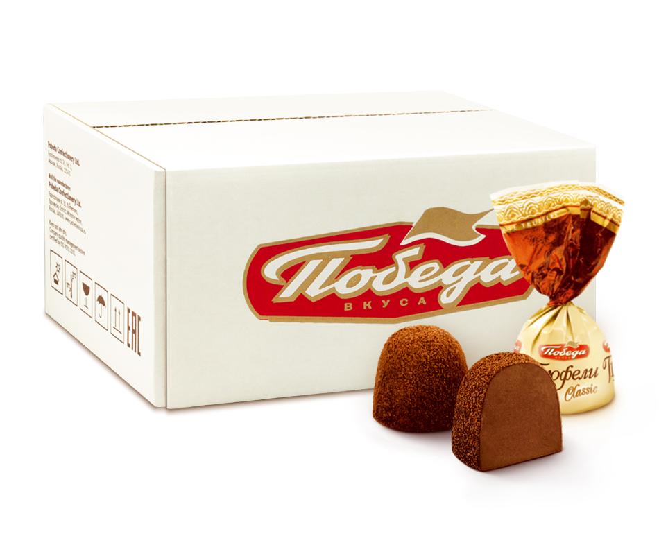 Трюфели шоколадные Победа Вкуса классические 2 кг фото
