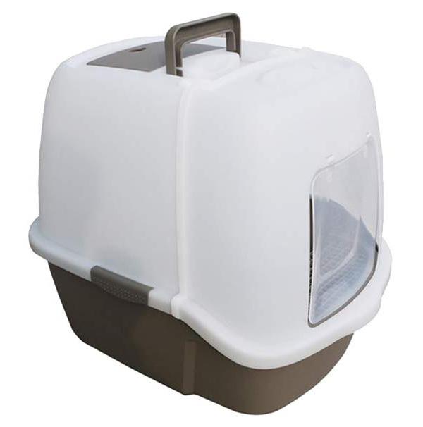 Туалет для кошек Triol P900, прямоугольный, серый,
