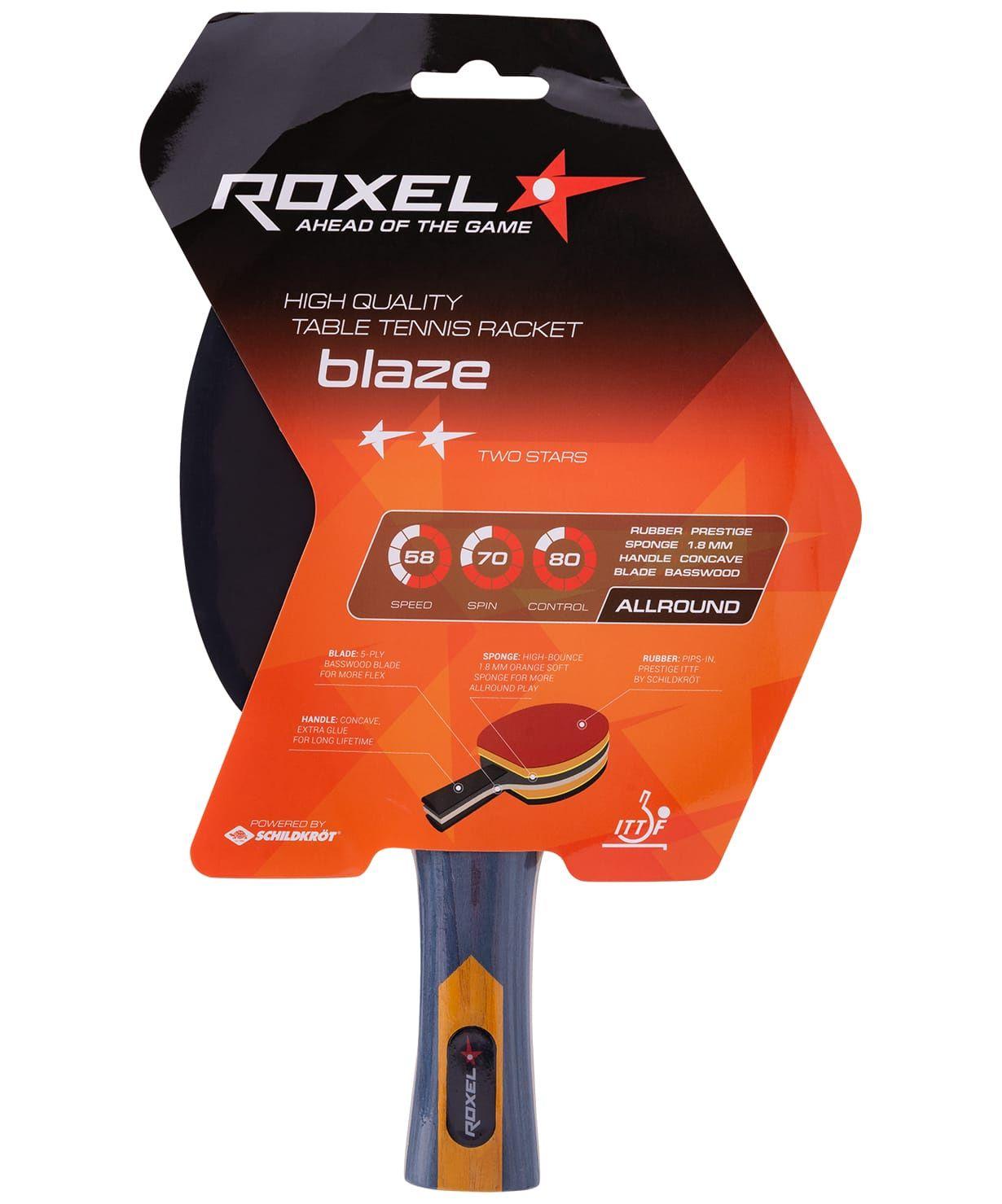 Ракетка для настольного тенниса Roxel Blaze 2*, Тренировочный Blaze
